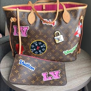 Louis Vuitton Patches Neverfull MM and Pouch